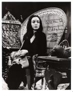 """CAROLYN JONES as MORTICIA ADDAMS in """"THE ADDAMS FAMILY"""" (Passed Away 1983) Signed 8x10 B/W Photo"""
