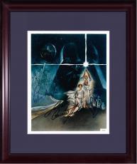 Carrie Fischer Mark Hamill Mayhew signed 8x10 star wars photo framed 3 auto COA