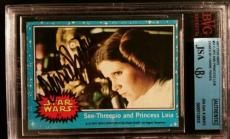 Carrie Fisher 1977 Topps Princess Leia AUTO Signed Autograph JSA/BGS Star Wars