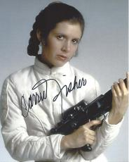 "CARRIE FISHER as PRINCESS LEIA ORGANA in ""STAR WARS"" Signed 8x10 Color Photo"