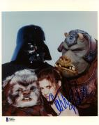 """Carrie Fisher Autographed 8"""" x 10"""" Star Wars Character Photograph - BAS COA"""