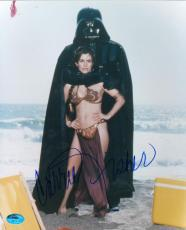 Carrie Fisher autographed 8x10 photo (Princes Leia Return of Jedi) Image #7 Bikini with Darth Vader