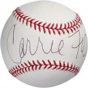 Carrie Fisher Autographed Official Major League Baseball - PSA