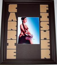 CARRIE FISHER Autographed One Of A Kind Signed Photo Display