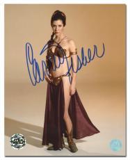 Carrie Fisher Autographed Princess Leia Star Wars Gold Bikini 8x10 Photo