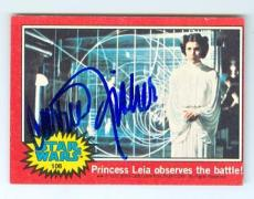 Carrie Fisher trading card with signature 1977 Topps Star Wars #108 Princess Leia
