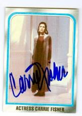 Carrie Fisher trading card with signature 1980 Topps Empire Strikes Back #225 Princess Leia