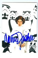 Carrie Fisher trading card with signature 2010 Topps Star Wars Galaxy #57 Princess Leia