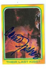 Carrie Fisher trading card with signature (Star Wars Princess Leia) 1980 Topps #323 Last Kiss