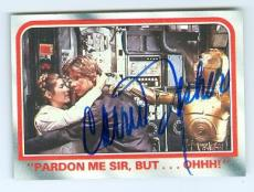 Carrie Fisher trading card with signature (Star Wars Princess Leia) 1980 Topps Empire Strikes Back #67