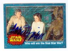 Carrie Fisher trading card with signature (Star Wars Princess Leia) 1999 Topps Chrome Archives #25