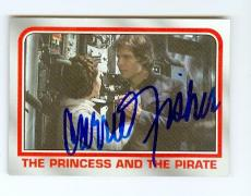 Carrie Fisher trading card with signature (Star Wars Princess Leia) 2001 Topps Heritage #34