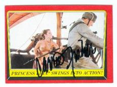 Carrie Fisher trading card with signature (Star Wars Return of the Jedi) 1983 Topps #52 Jabba Slave Girl