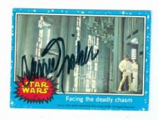 Carrie Fisher trading card with signature (Star Wars SC) 1977 Topps #41