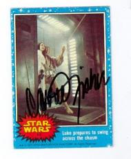Carrie Fisher autographed trading card (Star Wars SC) 1977 Topps #43