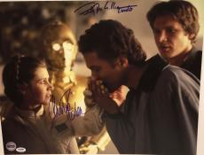 CARRIE FISHER & BILLY DEE WILLIAMS Signed STAR WARS ESB 16x20 PHOTO PSA DNA