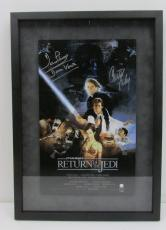 Carrie Fisher Dave Prowse Star Wars Signed Framed 10x16 Poster STEINER SS159625