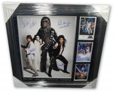Carrie Fisher Harrison Ford Mark Hamill Signed 16X20 Photo Star Wars PSA DNA