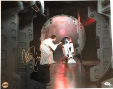 Carrie Fisher Kenny Baker Star Wars signed Photo 16x20 large rare Psa Dna coa
