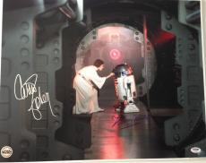 CARRIE FISHER Leia & KENNY BAKER R2 D2 Signed STAR WARS 16x20 BIG PHOTO PSA DNA