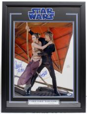Carrie Fisher Mark Hamill Signed 16x20 Photo Framed Star Wars Psa/dna Y93510