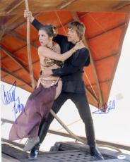 Carrie Fisher & Mark Hamill Signed Auto Star Wars 16x20 Photo Psa/dna #y93503