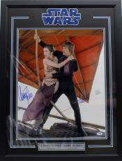 Carrie Fisher Mark Hamill Signed Autographed 16x20 Photo Framed Psa/dna Y93515