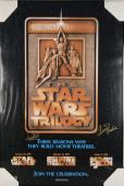 Carrie Fisher Mark Hamill Signed Autographed Star Wars Poster PSA/DNA