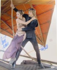 Carrie Fisher & Mark Hamill Signed Star Wars 16x20 Photo Psa/dna #y93498