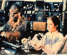 "CARRIE FISHER & PETER MAYHEW Signed ""Star Wars"" 16x20 Photo PSA/DNA #D39360"