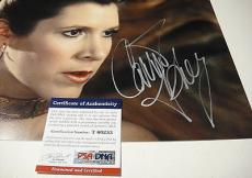 Carrie Fisher Pincess Leia Star Wars Signed 11x14 Photo Psa/dna Coa T60253