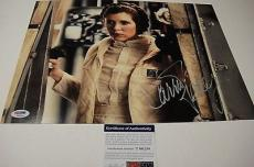 Carrie Fisher Pincess Leia Star Wars Signed 11x14 Photo Psa/dna T60254