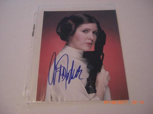 Carrie Fisher Princess Leia #1 W/coa Signed 8x10 Photo
