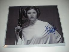 Carrie Fisher Princess Leia #2 W/coa Signed 8x10 Photo