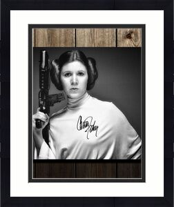 Carrie Fisher Princess Leia STAR WARS Autographed 16x20