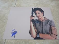 Carrie Fisher Princess Leia Star Wars Signed Autographed 11x14 Photo READ
