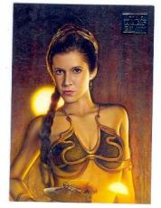 Carrie Fisher Princess Leia trading card Star Wars Galaxy 2012 #4 Slave Girl Outfit