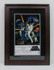Carrie Fisher Prowse Mayhew Star Wars Signed Framed 10x16 Poster STEINER 159525