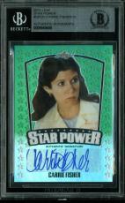 Carrie Fisher Signed 2015 Leaf Star Power #SPCFI LE #1/10 BAS Slabbed