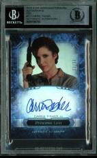 Carrie Fisher Signed 2016 Star Wars Masterwork #12 Card 23/50 BAS Slab