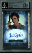 Carrie Fisher Signed 2016 Star Wars Masterwork #12 Card 23/50 BAS Slab