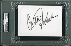 """Carrie Fisher Signed 4""""x6"""" Card Star Wars Psa/dna Encapsulated 83453057"""