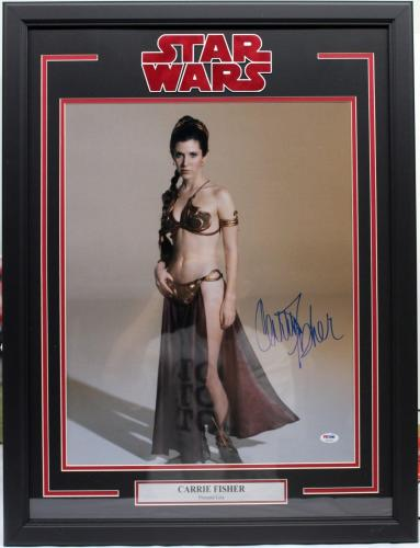 "Carrie Fisher Signed Auto Star Wars 'leia"" 16x20 Photo Framed Psa/dna #z29188"