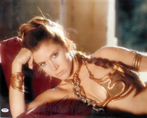 "Carrie Fisher Signed Auto Star Wars ""princess Leia"" 16x20 Photo Psa/dna #z29095"