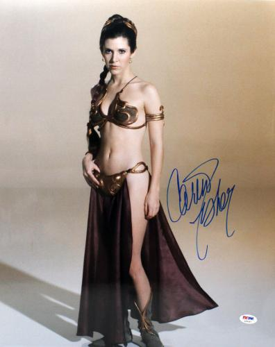 "Carrie Fisher Signed Auto Star Wars ""princess Leia"" 16x20 Photo Psa/dna #z29187"