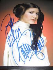 CARRIE FISHER SIGNED AUTOGRAPH 8x10 PHOTO EMPIRE STRIKES BACK IN PERSON G