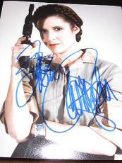 CARRIE FISHER SIGNED AUTOGRAPH 8x10 PHOTO EMPIRE STRIKES BACK IN PERSON I