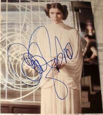 "Carrie Fisher Signed Autograph ""star Wars"" Princess Leia Rare Image 8x10 Photo"