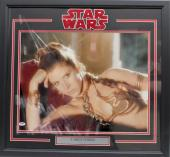"Carrie Fisher Signed Star Wars ""princess Leia"" 16x20 Photo Framed Psa/dna Z29098"