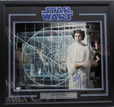Carrie Fisher Signed Autographed 16x20 Photo Framed Star Wars Psa/dna Z29103